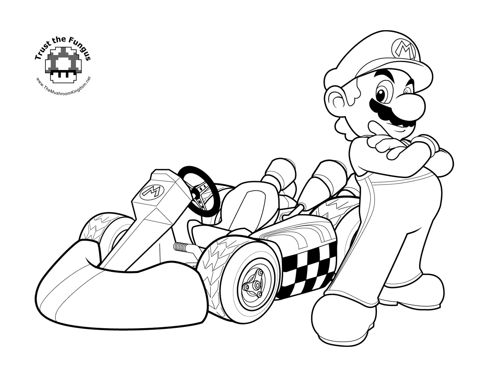 mario cart wii coloring pages - photo#1