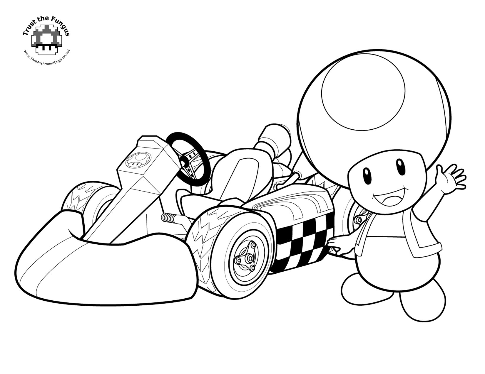 tmk presents mario kart wii coloring pages