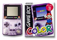 Game Boy Color (Mario version: clear purple housing) screen shot