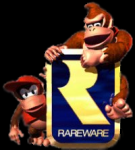 Donkey, Diddy, and Rareware logo