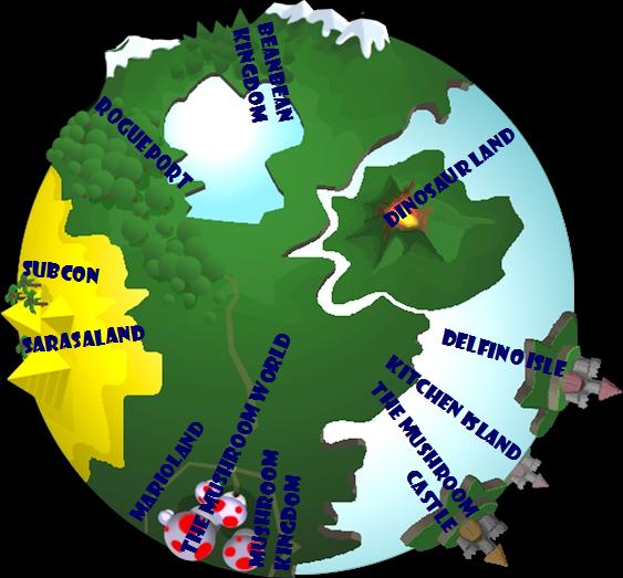 Mushroom World Map.Tmk Mailbag 30 Apr 2007