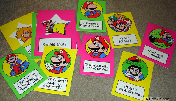 TMK Mario Mania Merchandise – Mario Valentines Cards