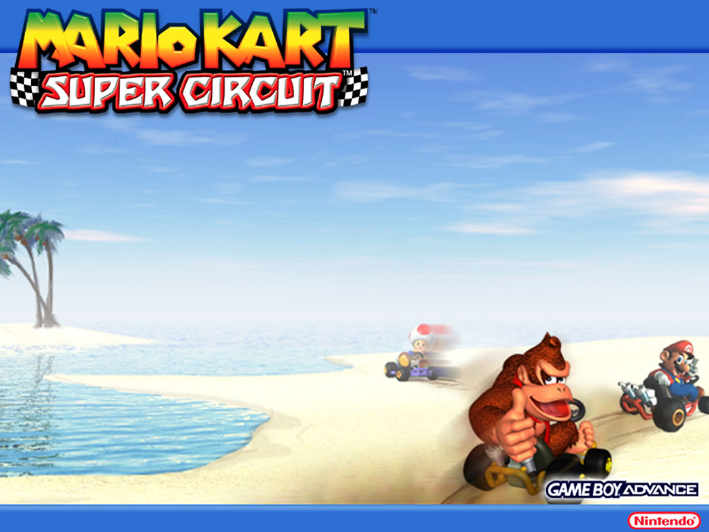 Tmk Downloads Images Wallpaper Mario Kart Super Circuit Gba