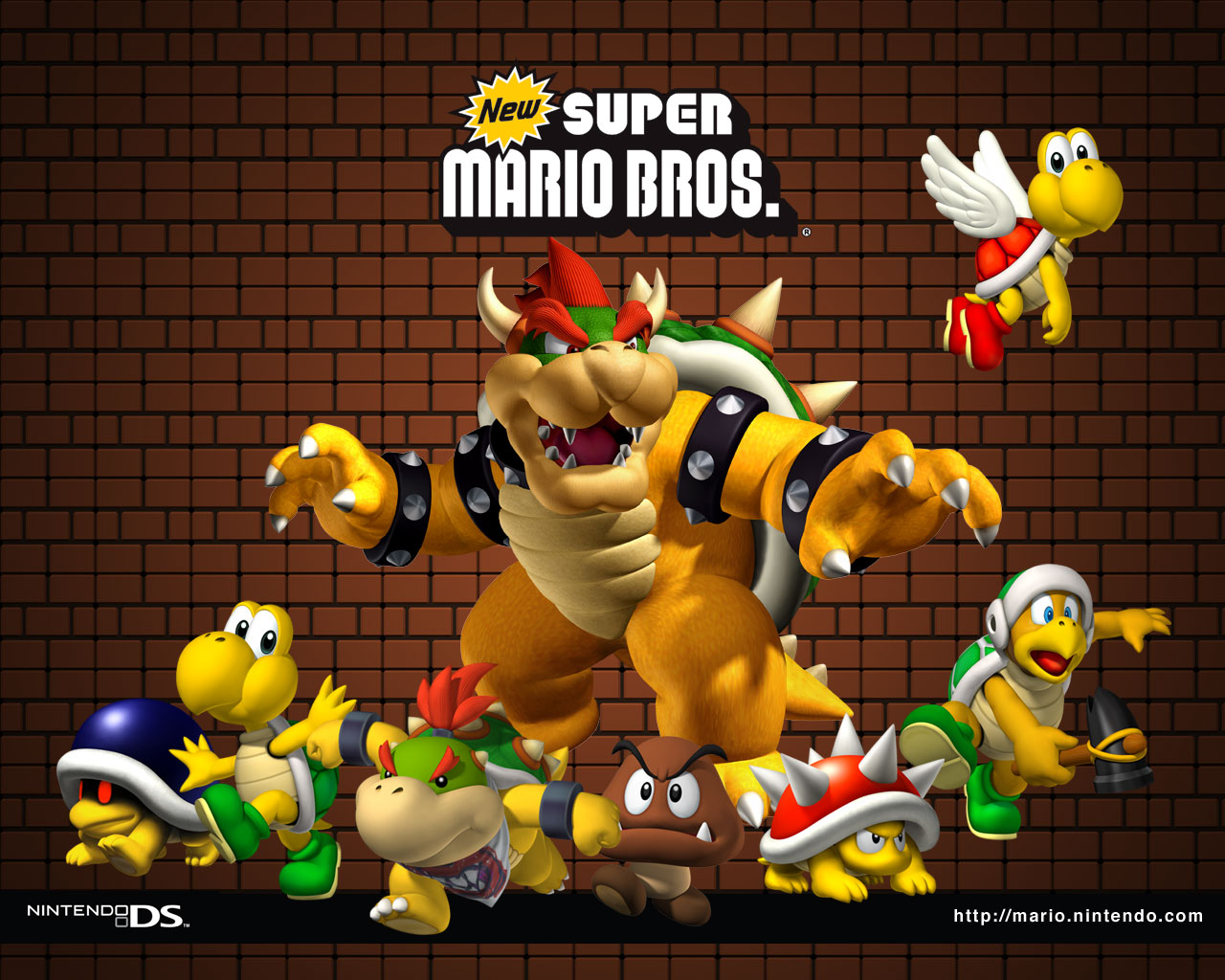 new super mario bros background hd