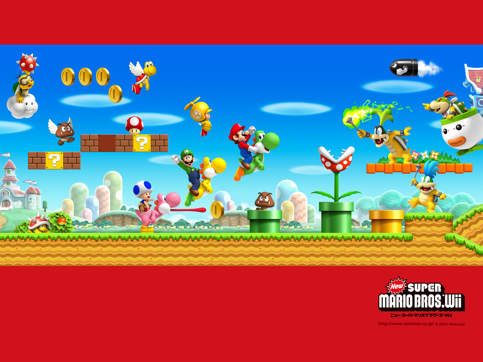 Tmk Downloads Images Wallpaper New Super Mario Bros Wii Wii