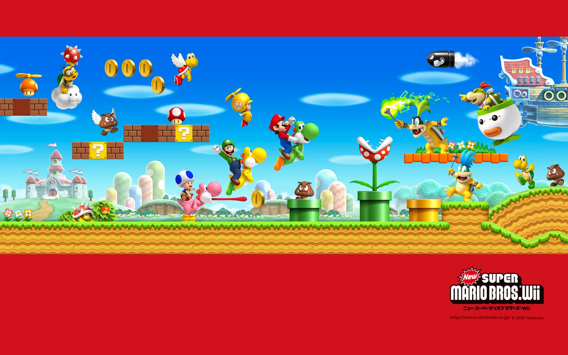 Tmk Downloads Images Wallpaper New Super Mario Bros Wii Wii