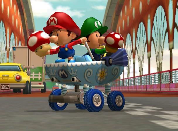 Mario Kart Double Dash Music - Baby Park - YouTube  |Baby Mario And Baby Luigi Mario Kart Double Dash