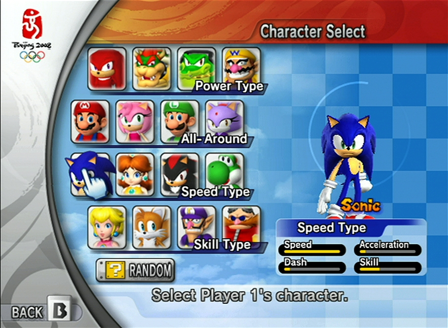 A satisfying character roster is featured in the game.