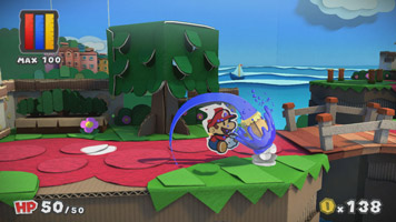 Paper Mario: Color Splash screen shot