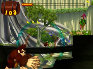 Donkey Kong Jungle Beat screen shot