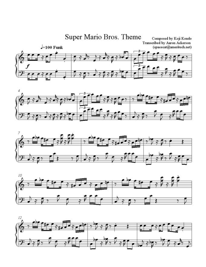 Mario Theme Song On Clarinet
